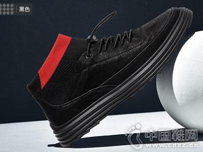 保罗骑士休闲鞋2018秋冬季潮流板鞋
