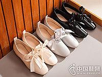 新款英伦蝴蝶结仙女的鞋honeyGIRL粗跟鞋