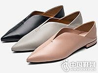 V口平底舒适纯色CNE单鞋