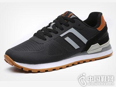 德尔惠男鞋秋季耐磨复古跑鞋