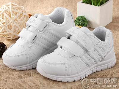 白色透气运动鞋四季熊校园鞋