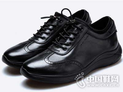 新款套脚男鞋时尚皮尔卡丹休闲鞋