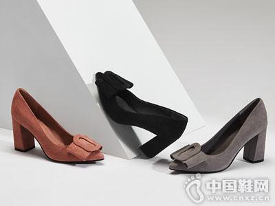 品粗跟时尚ONDUL圆漾高跟鞋