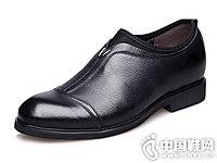 内增高皮鞋6cm圆头套脚田宇增高鞋