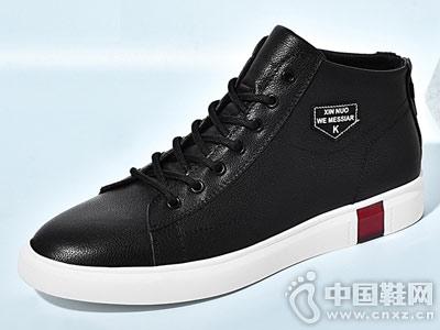 新品男士低帮系带板鞋韩版欧伦堡男鞋