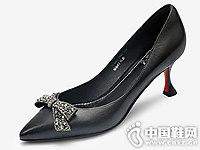 中跟正装皮鞋欧罗巴浅口女鞋