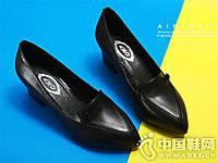艾米奇新款花朵OL真皮女鞋