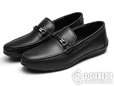 公羊男鞋真皮豆豆鞋驾车皮鞋