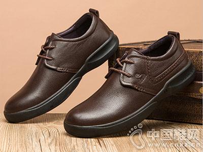 秋冬新款男鞋男士新款公羊休闲皮鞋