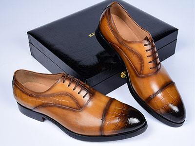 肯迪凯尼定制皮鞋护脊男鞋