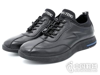 新款潮流时尚青年轻盈双凤运动皮鞋