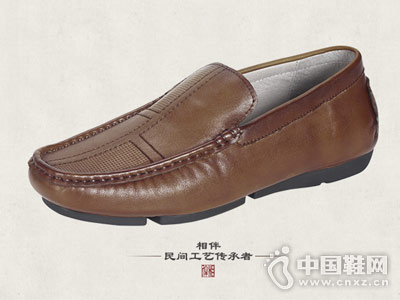 真皮男鞋手工复古中国民族风套脚豆豆鞋