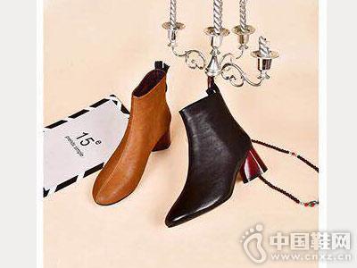 新款小粗跟冬季踝靴摩熙米昵女鞋
