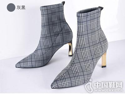 英加度女鞋2018秋冬新款短靴