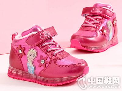 冬新款迪士尼愛莎公主鞋