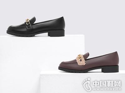 CHARLES&KEITH乐福鞋平底女士单鞋