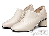2018新款真皮深口单鞋欧梦迪亚高跟鞋