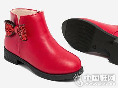斯纳菲童鞋女童靴子春秋单靴2018冬