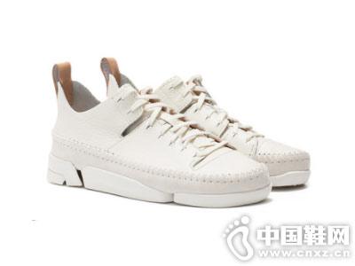 clarks其乐2018秋季新款系带小白鞋