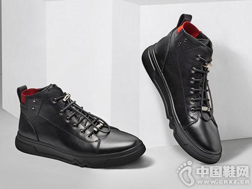 宾度男士韩版时尚休闲潮流高帮板鞋