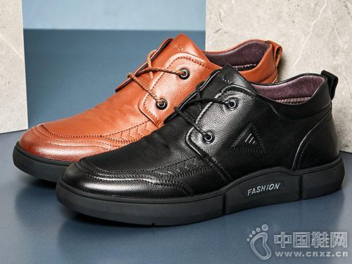 男鞋休闲鞋2018冬季新款康奈皮鞋