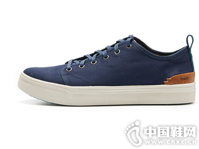 TOMS男鞋系带男士板鞋帆布鞋