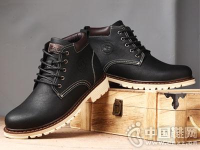 木林森马丁靴秋季英伦中帮百搭工装男鞋