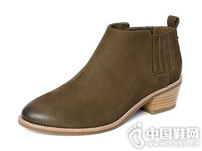 时尚切尔西靴 舒适粗跟百田森新款