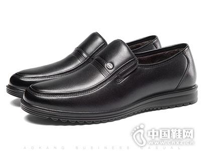 奥康男鞋2018冬季新品皮鞋