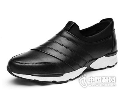 秋冬潮鞋2018新款棉鞋谷尔真皮运动鞋