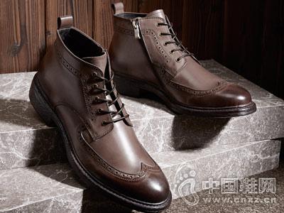 马丁靴男工装靴男中帮户外短靴爱得堡新款