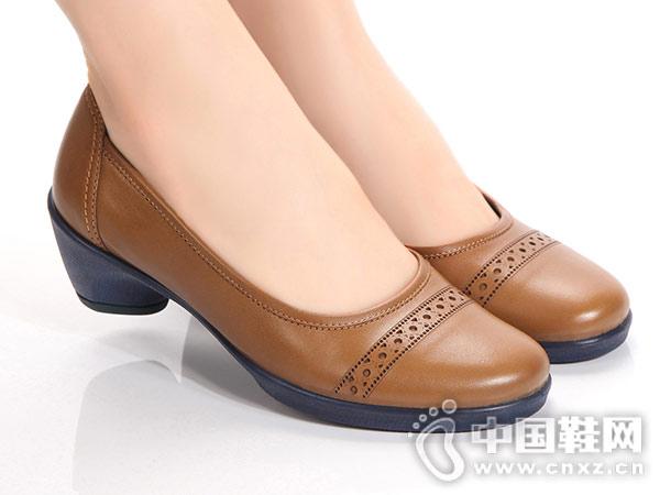雅乐士Yarloks女鞋粗跟工作百搭女鞋