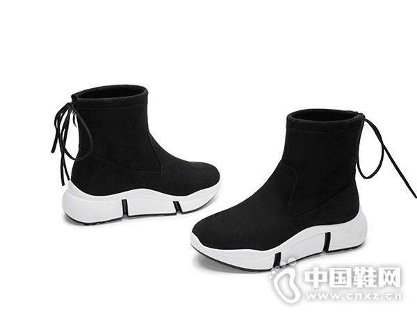 毅雅2018冬季新款韩版时尚松糕厚底短靴