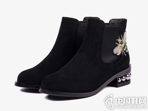 2018冬季新款刺绣Safiya索菲娅切尔西靴