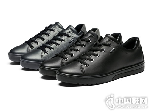 秋靴女2018新款ECCO爱步高跟中筒靴