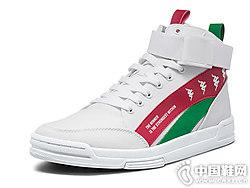 休闲板鞋运动鞋高帮KAPPA卡帕2018新款