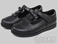 早晨女童小皮鞋女童单鞋2018黑皮鞋