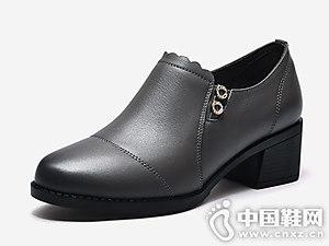 2018秋季新款真皮短靴富贵鸟女鞋