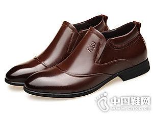 老人头皮鞋英伦内增高鞋百搭潮流