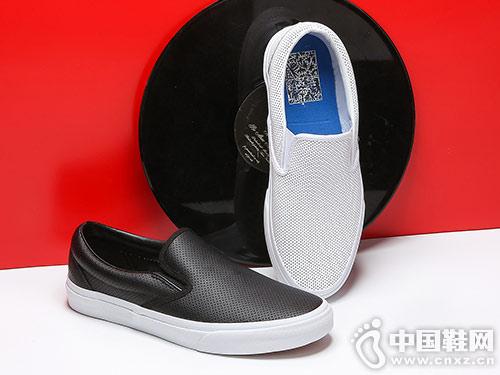 足下登男鞋懒人鞋透气小白鞋