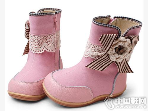 卡卡树真皮儿童靴子女童短靴秋冬新款