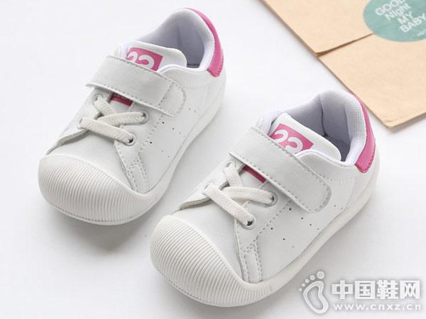 卡巴奇1-2-3岁婴儿学步鞋小白鞋