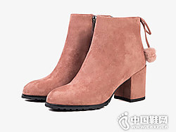 Safiya索菲娅2018秋冬新款高跟短靴