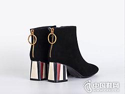 2018秋冬新款圆头St&Sat星期六短靴