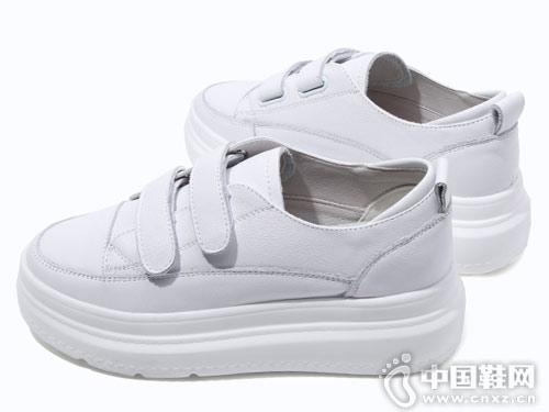 2018新款百搭韩版厚底米薇卡小白鞋