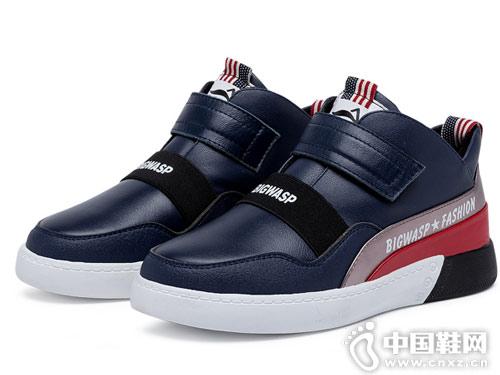 大黄蜂童鞋2018新款冬季儿童休闲皮靴
