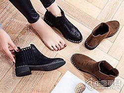 巨日新款日常黑色2018秋冬季短筒靴