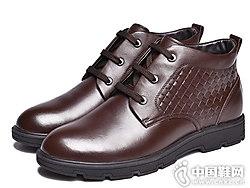 金猴男士皮鞋冬季系��新款休�e男棉