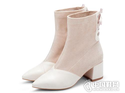 田莘小短靴女2018新款冬靴