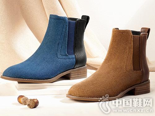 新款靴子CNE舒适帆布切尔西靴